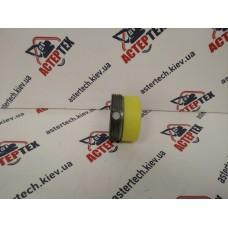 Гайка+накладка регулировочная опоры (металлическая) на JCB 3CX, 4CX 128/10850